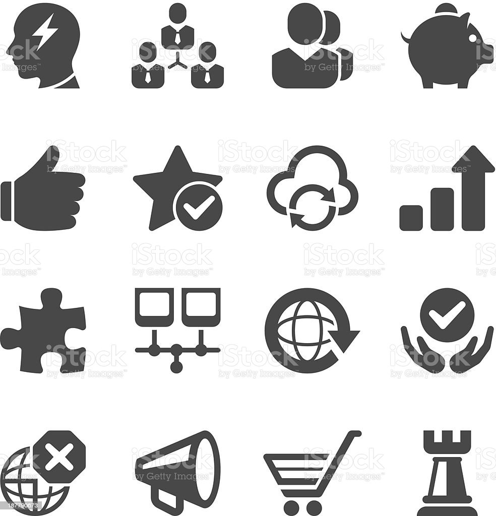A set of icons used for the Internet vector art illustration