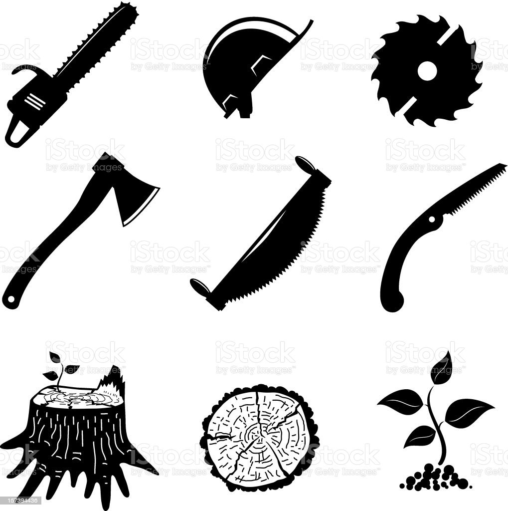set of icons royalty-free stock vector art