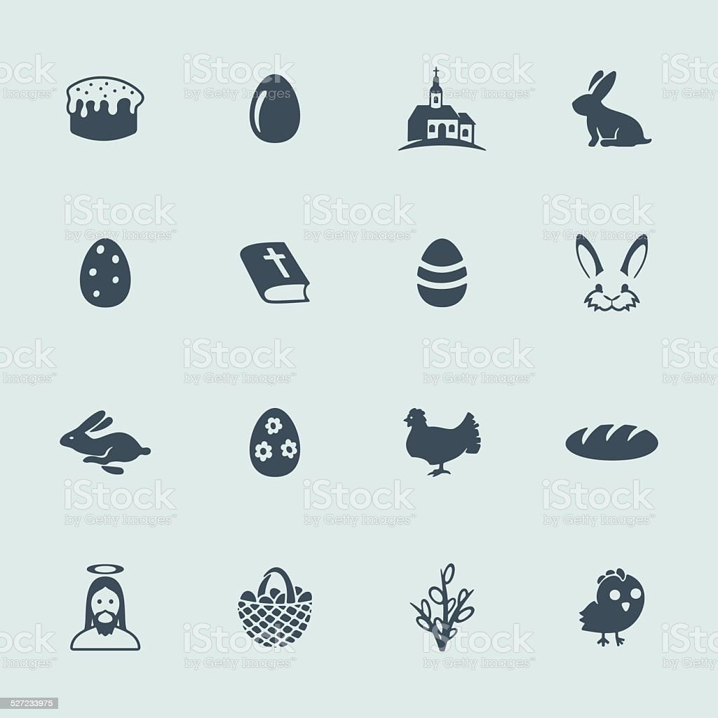 Set of icons vector art illustration