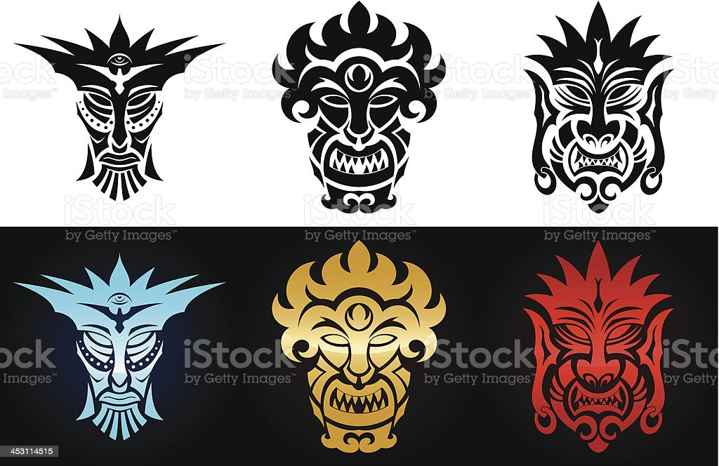 Set of idols royalty-free stock vector art