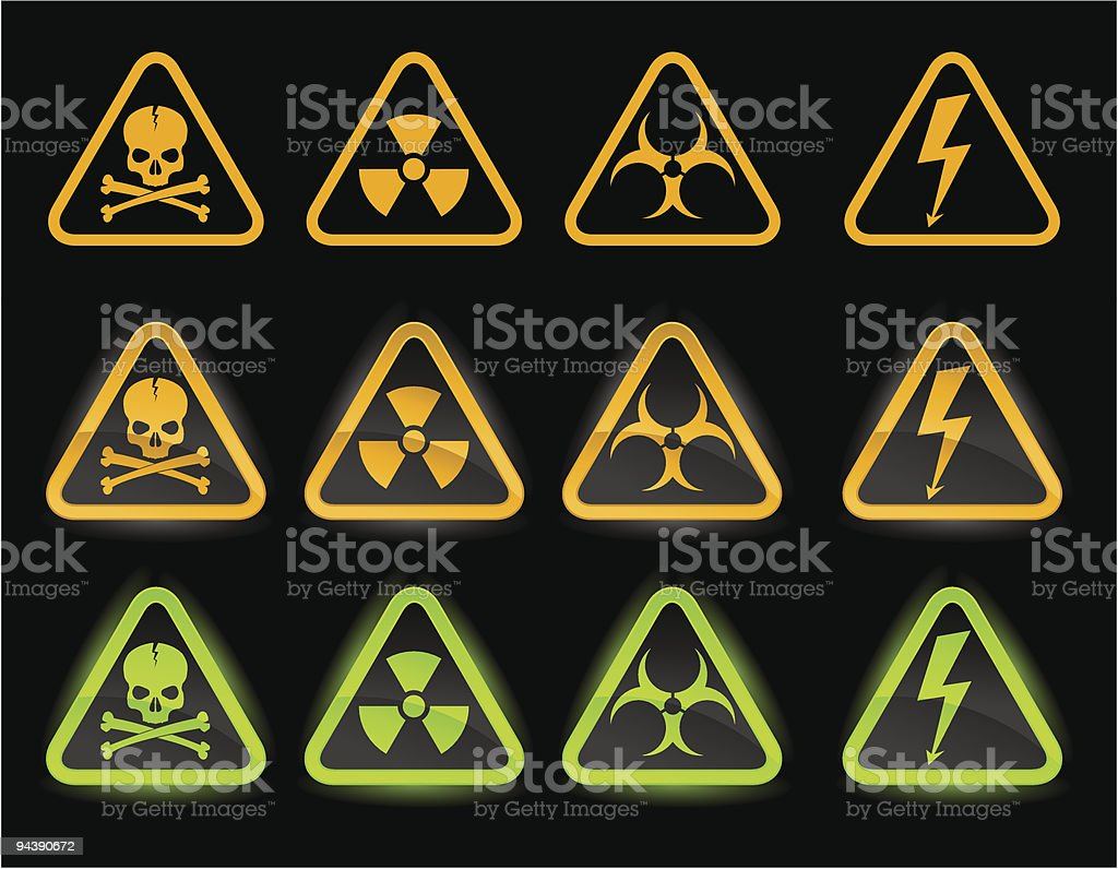 Set of industrial icons royalty-free stock vector art