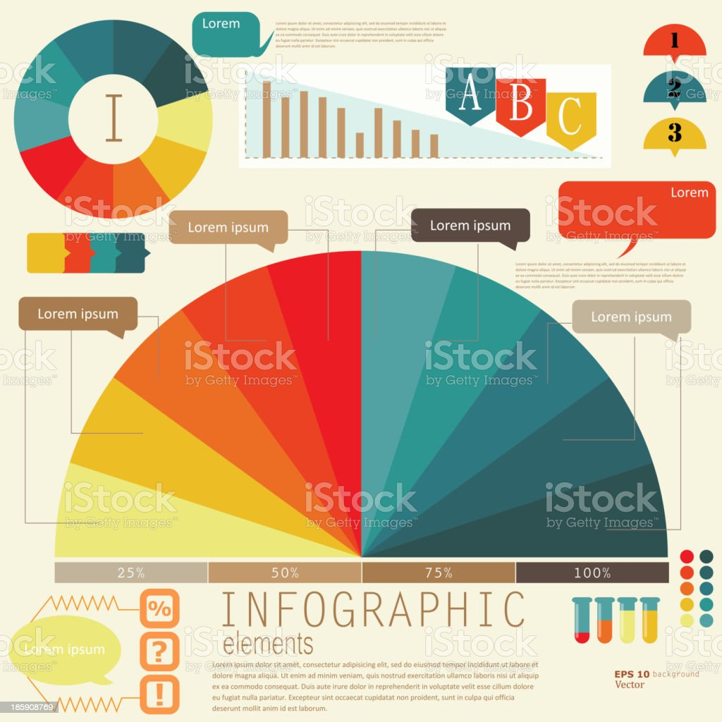 Set of Infographic elements.  Design template. Vector illustration royalty-free stock vector art