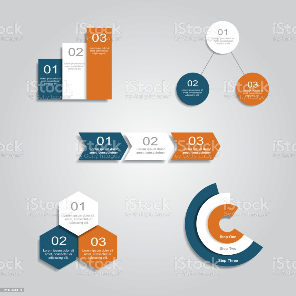 Set of infographics design templates. Vector illustration vector art illustration