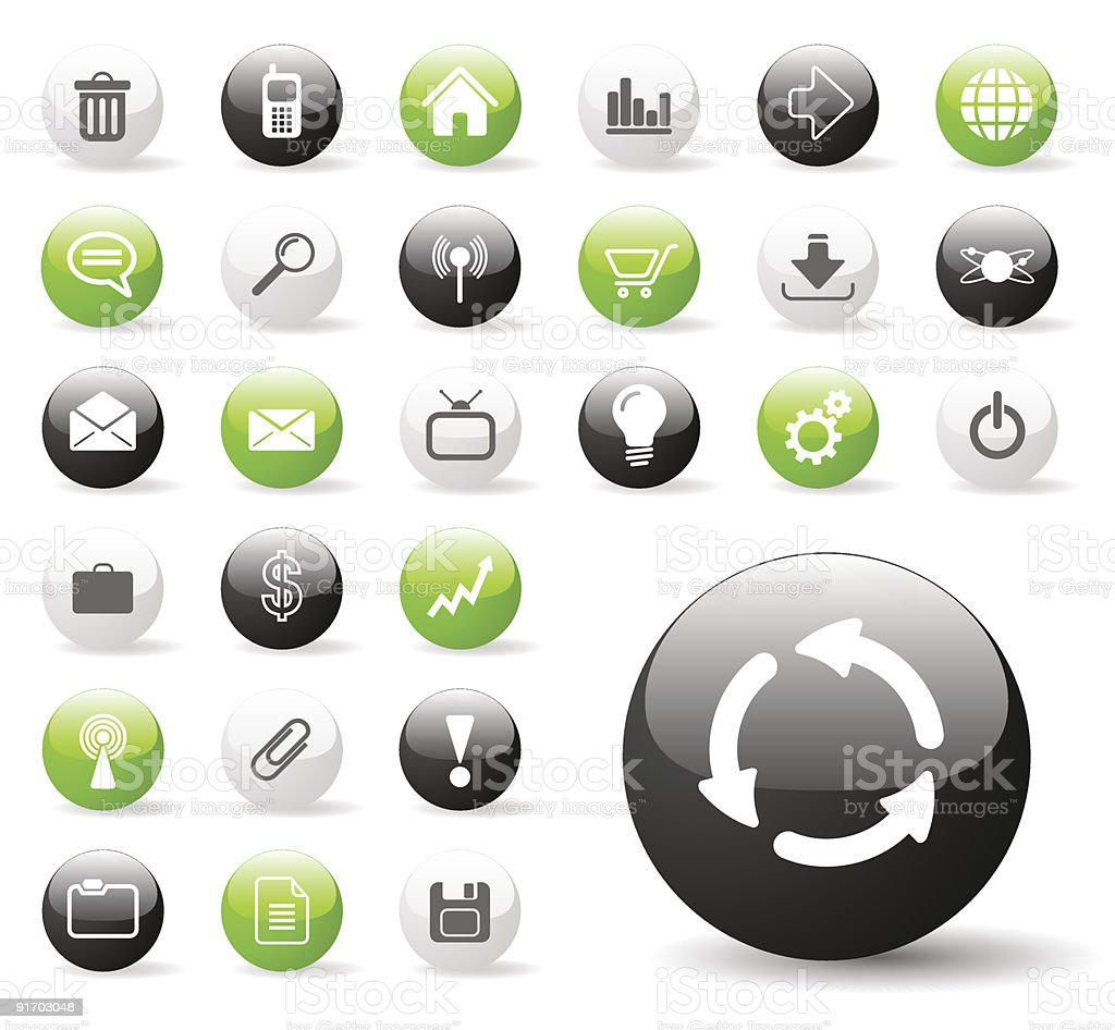 Set of internet and website icons on a white background royalty-free stock vector art