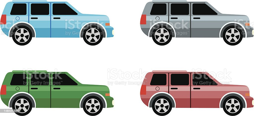 Set of jeeps royalty-free stock vector art