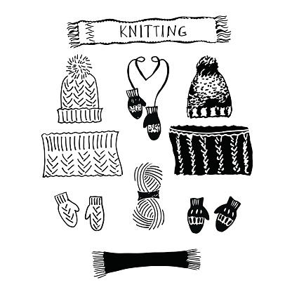 Knitting Needle Clip Art, Vector Images & Illustrations