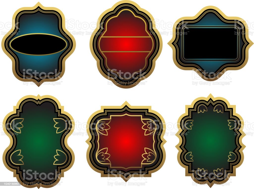 Set of labels royalty-free stock vector art
