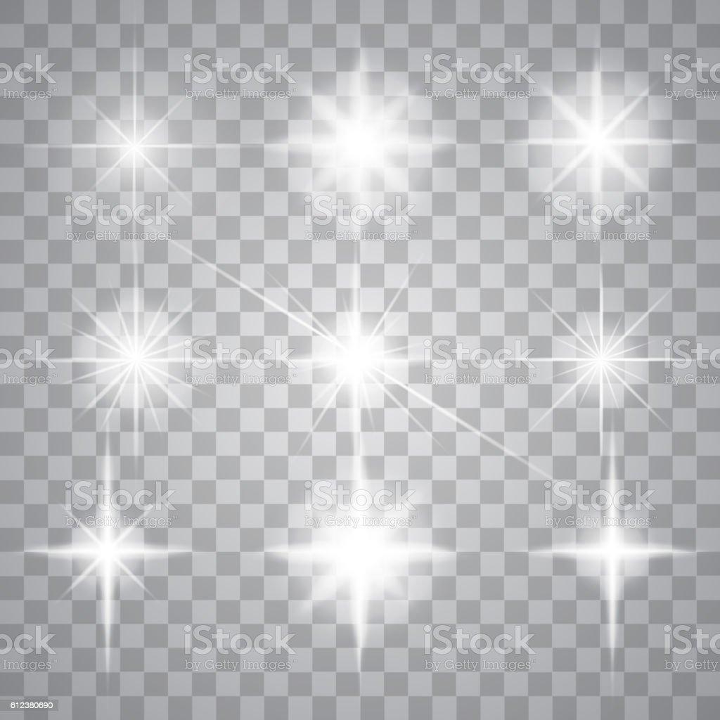 Set of light effects vector art illustration