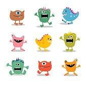 set of little monsters to incorporate into your design projects