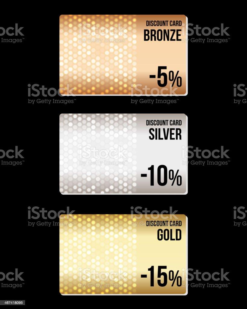 Set of luxury metallic backgrounds on black vector art illustration