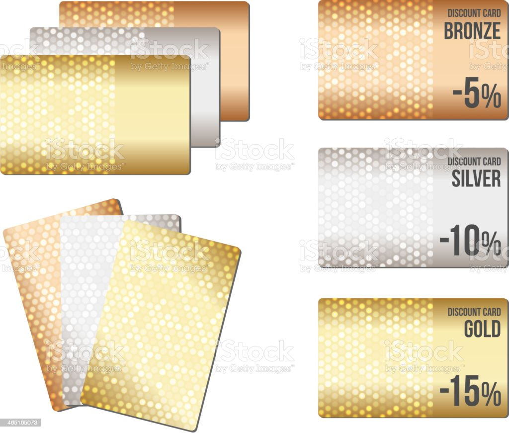 Set of luxury metallic backgrounds vector art illustration