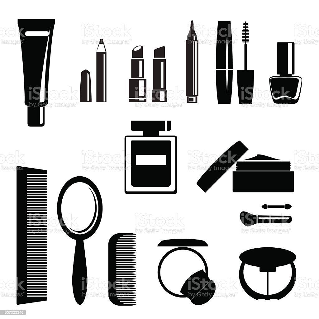 Set of make-up elements - vector vector art illustration
