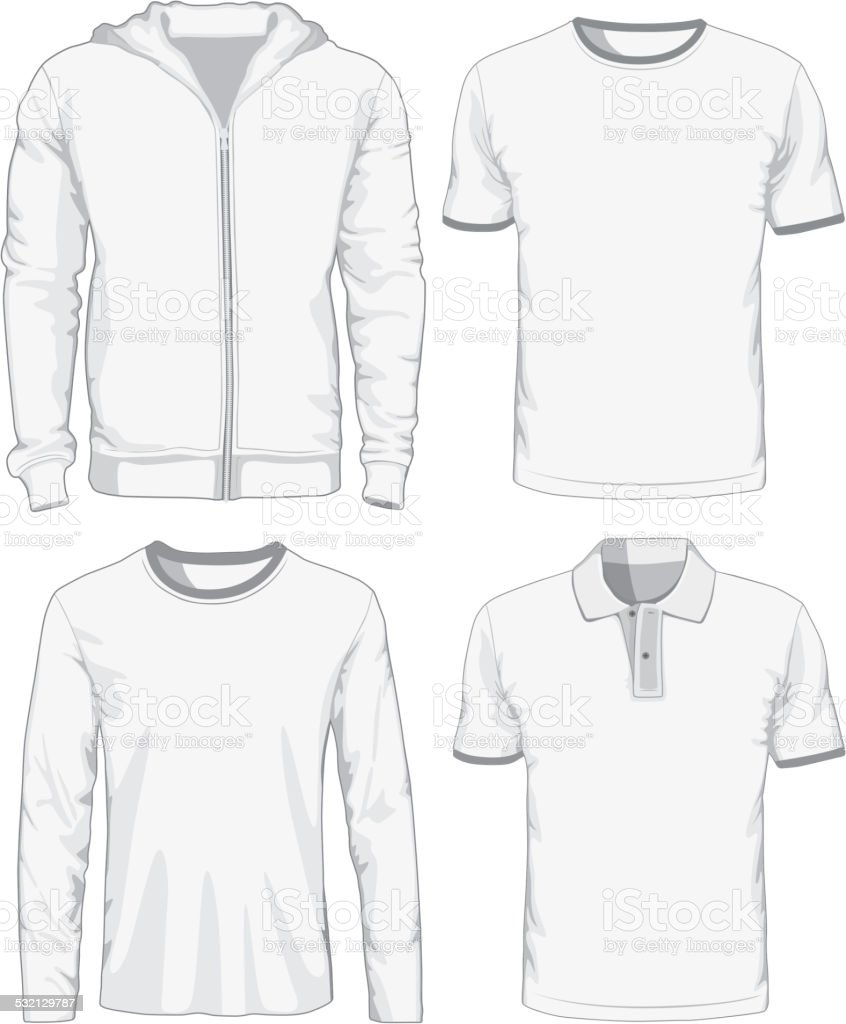 Set of male shirts. Vector illustration vector art illustration