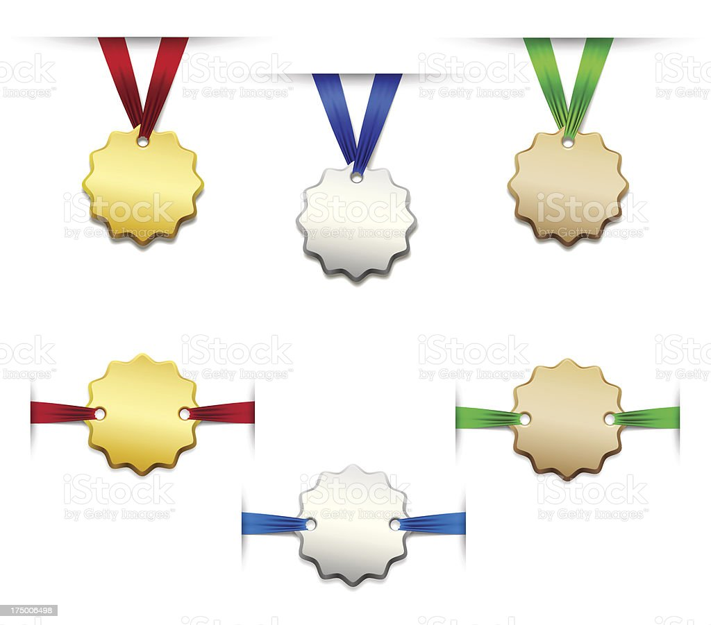 Set of medals royalty-free stock vector art