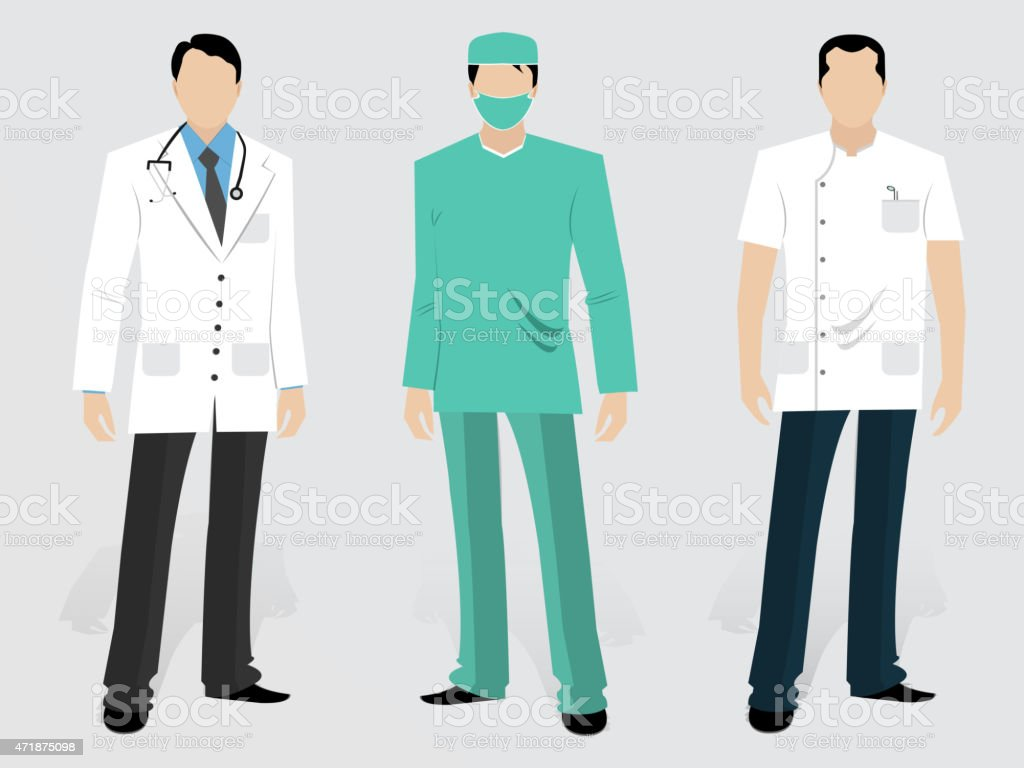 Set of Medical characters. vector art illustration