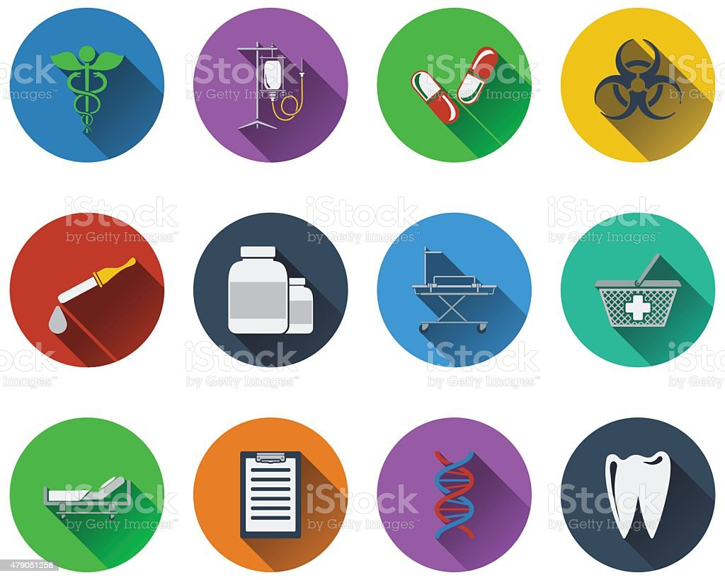 Set of medical icon vector art illustration