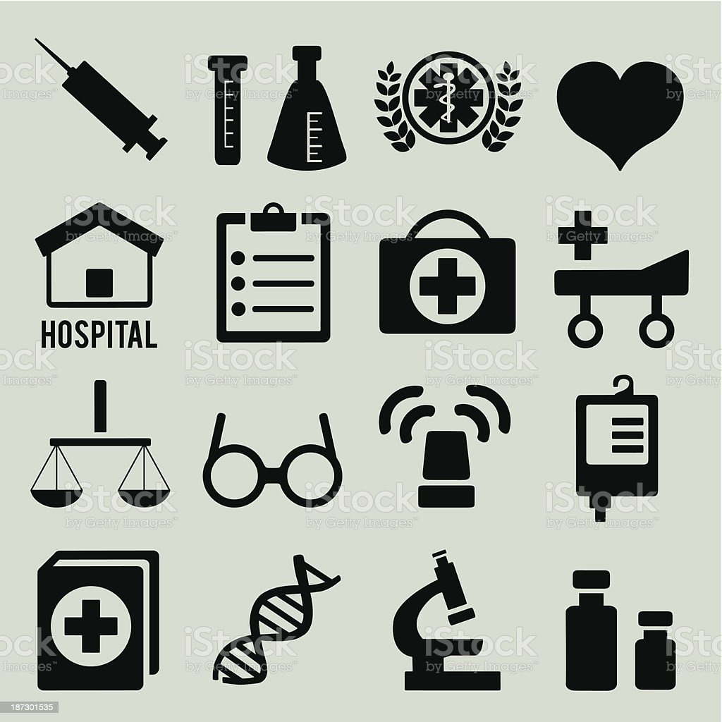 Set of medical icons - part 1 royalty-free stock vector art