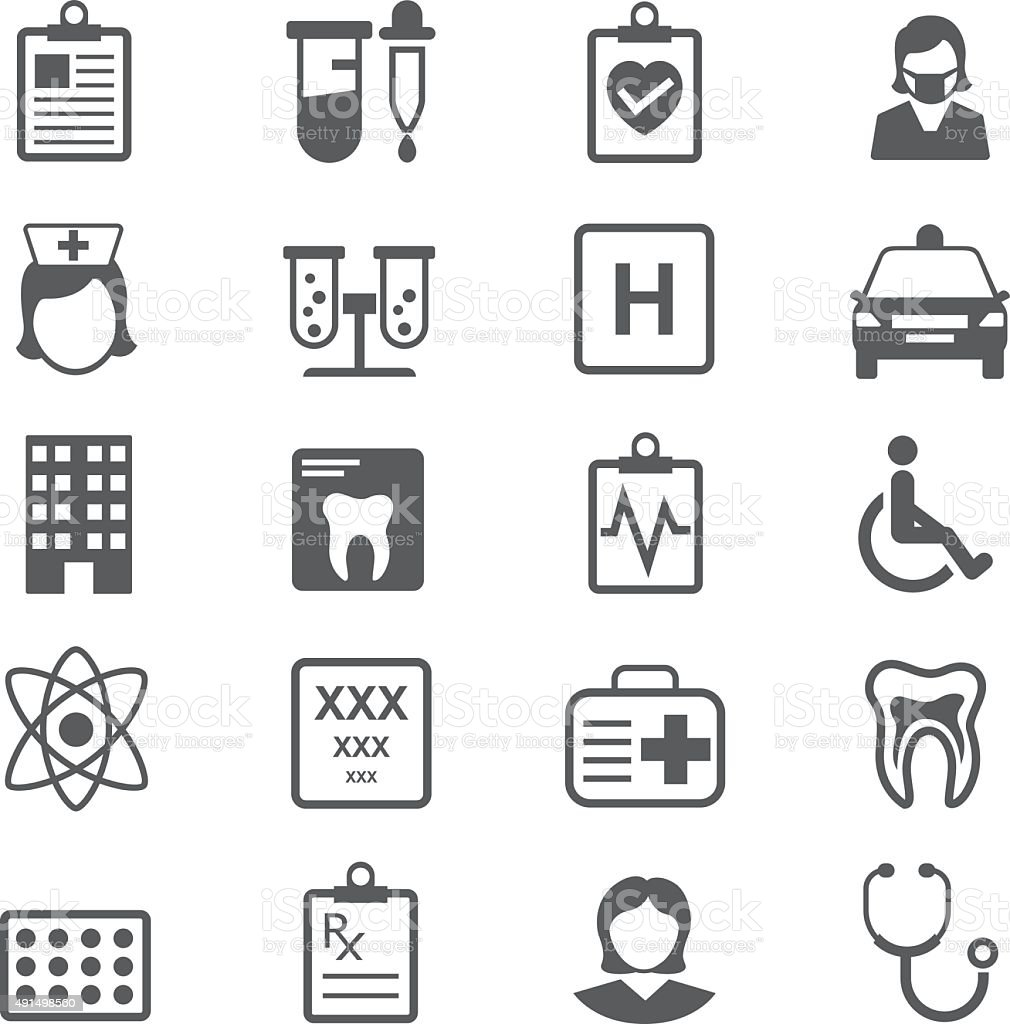 Set of Medical Icons vector art illustration