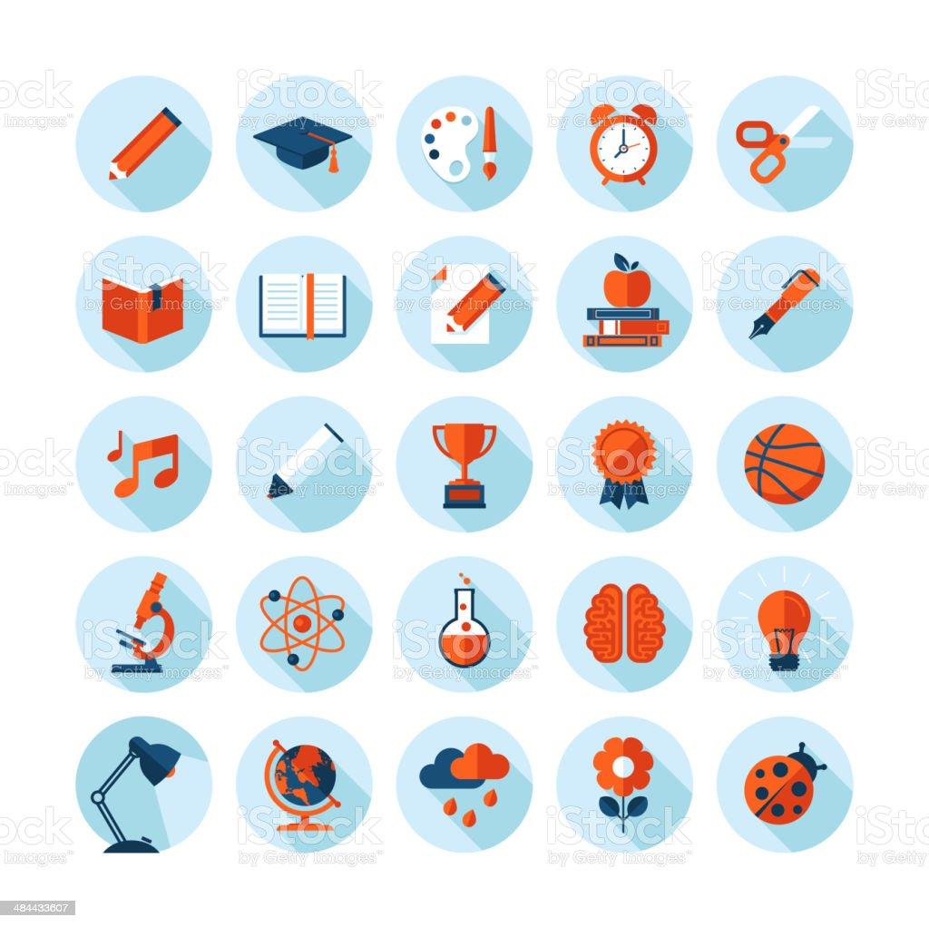 Conjunto de iconos de diseño plano moderno illustracion libre de derechos libre de derechos