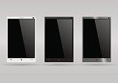 Set of modern smartphones