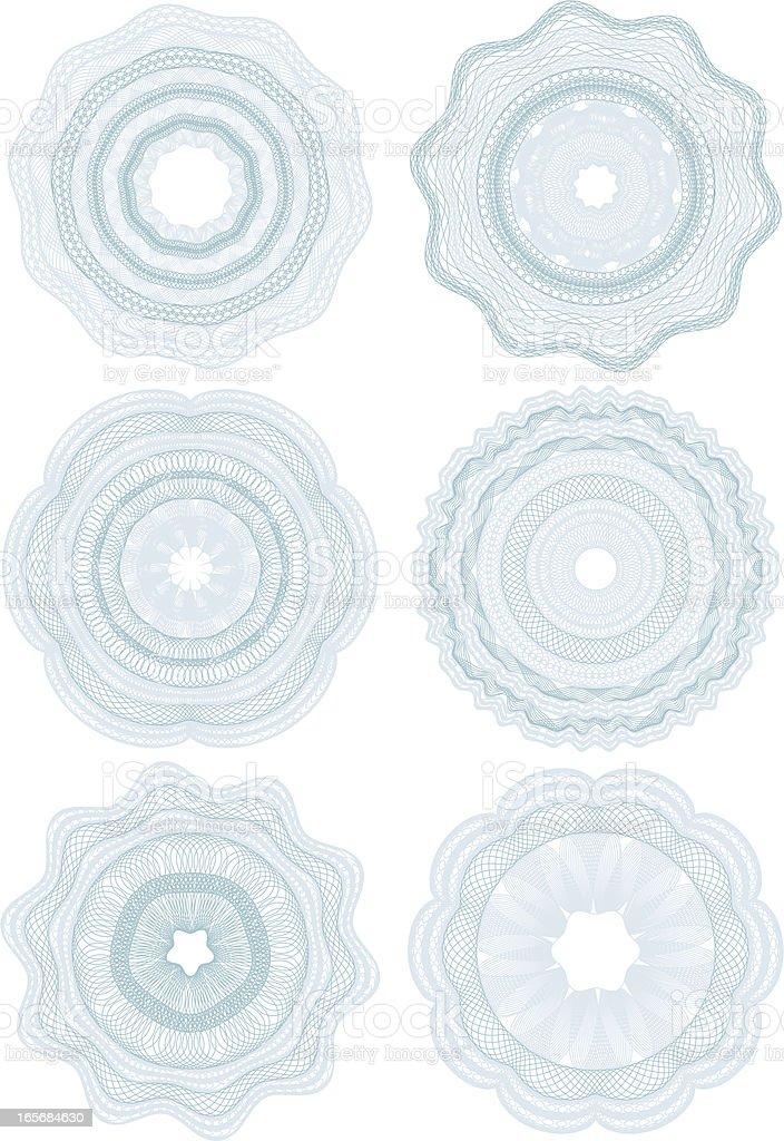 Set of money patterns . royalty-free stock vector art