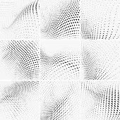 set of Monochrome polka dots pattern