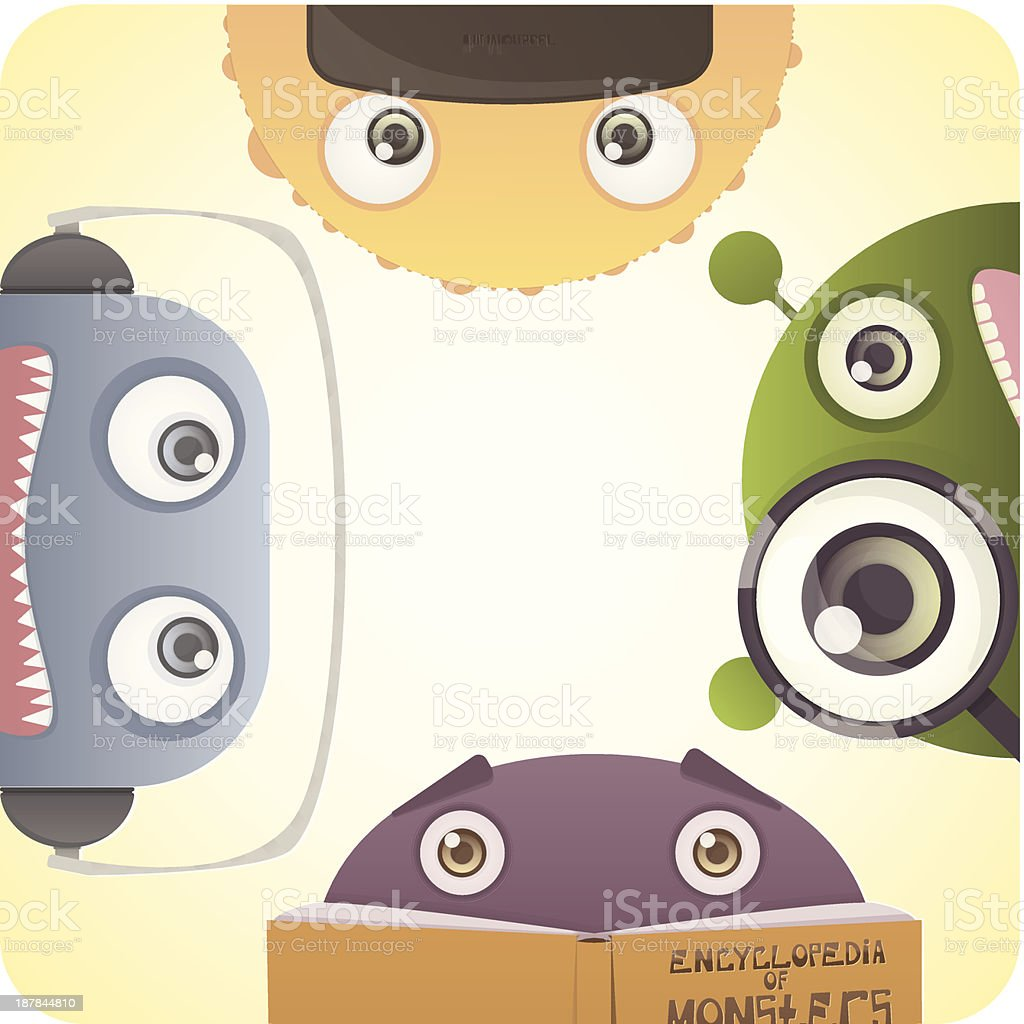 Set of Monsters royalty-free stock vector art