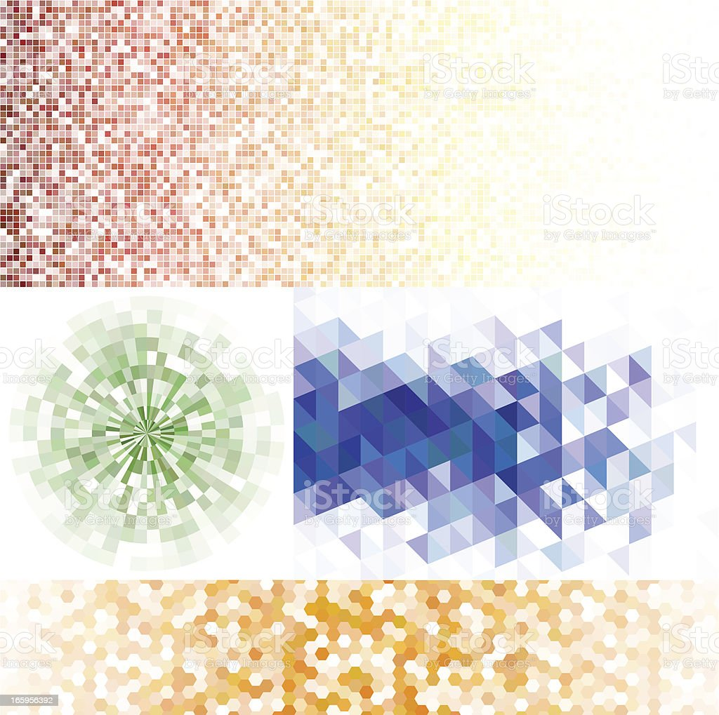 Set of mosaic backgrounds royalty-free stock vector art