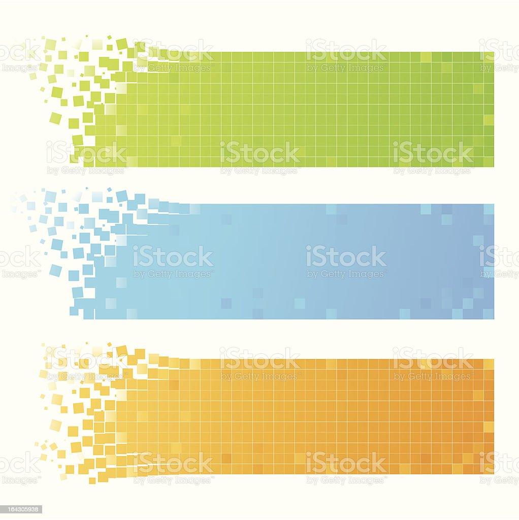 set of mosaic banners vector art illustration