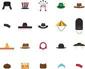 Set of nation hat.