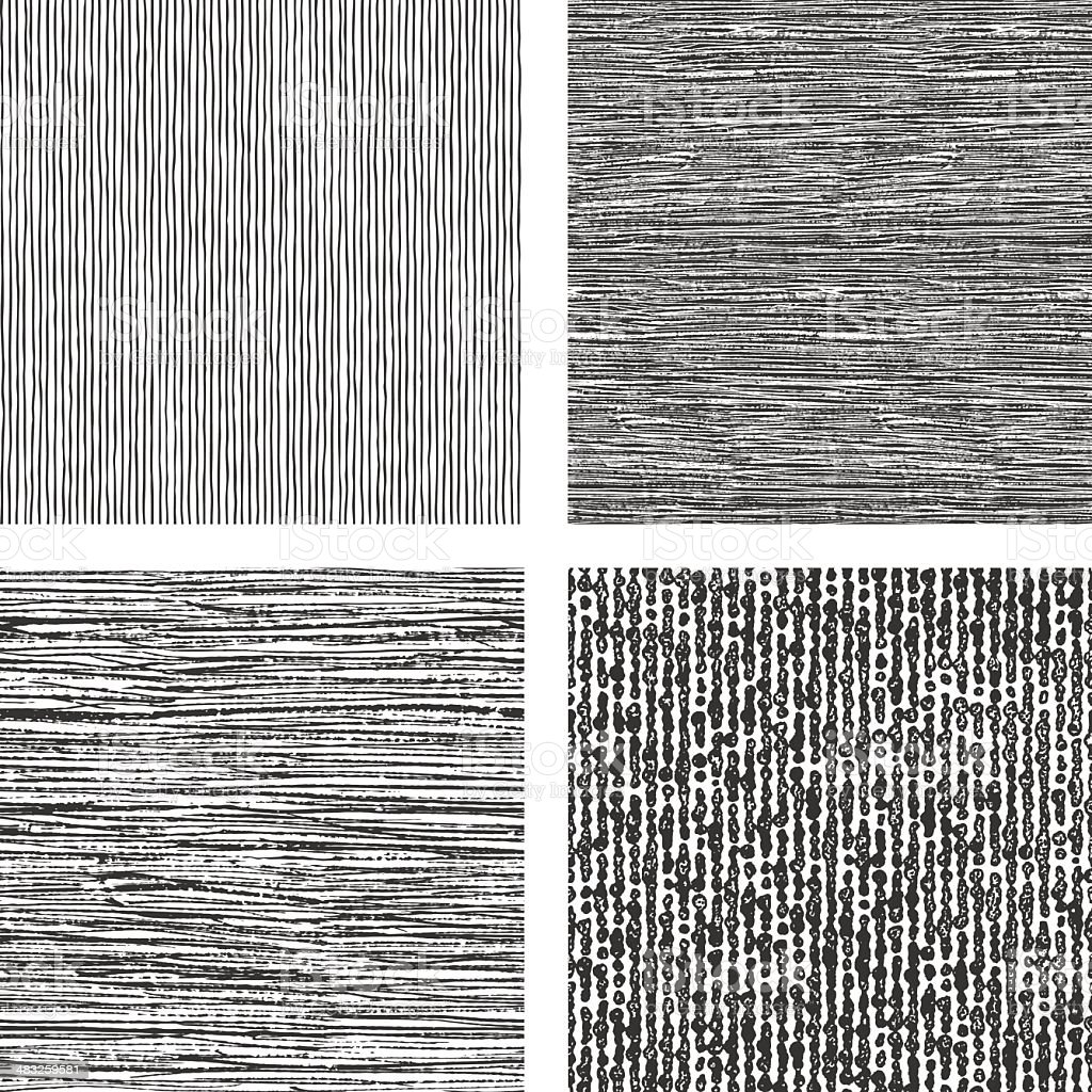 Set of Natural Texture Seamless Patterns vector art illustration