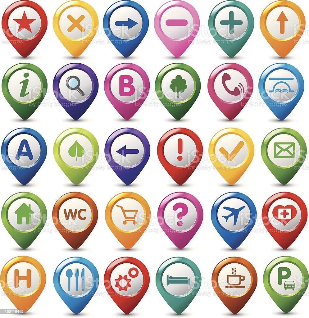 set of navigation icons royalty-free stock vector art