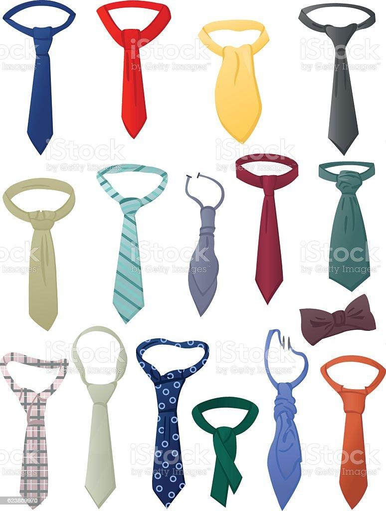 Set of neckties vector art illustration
