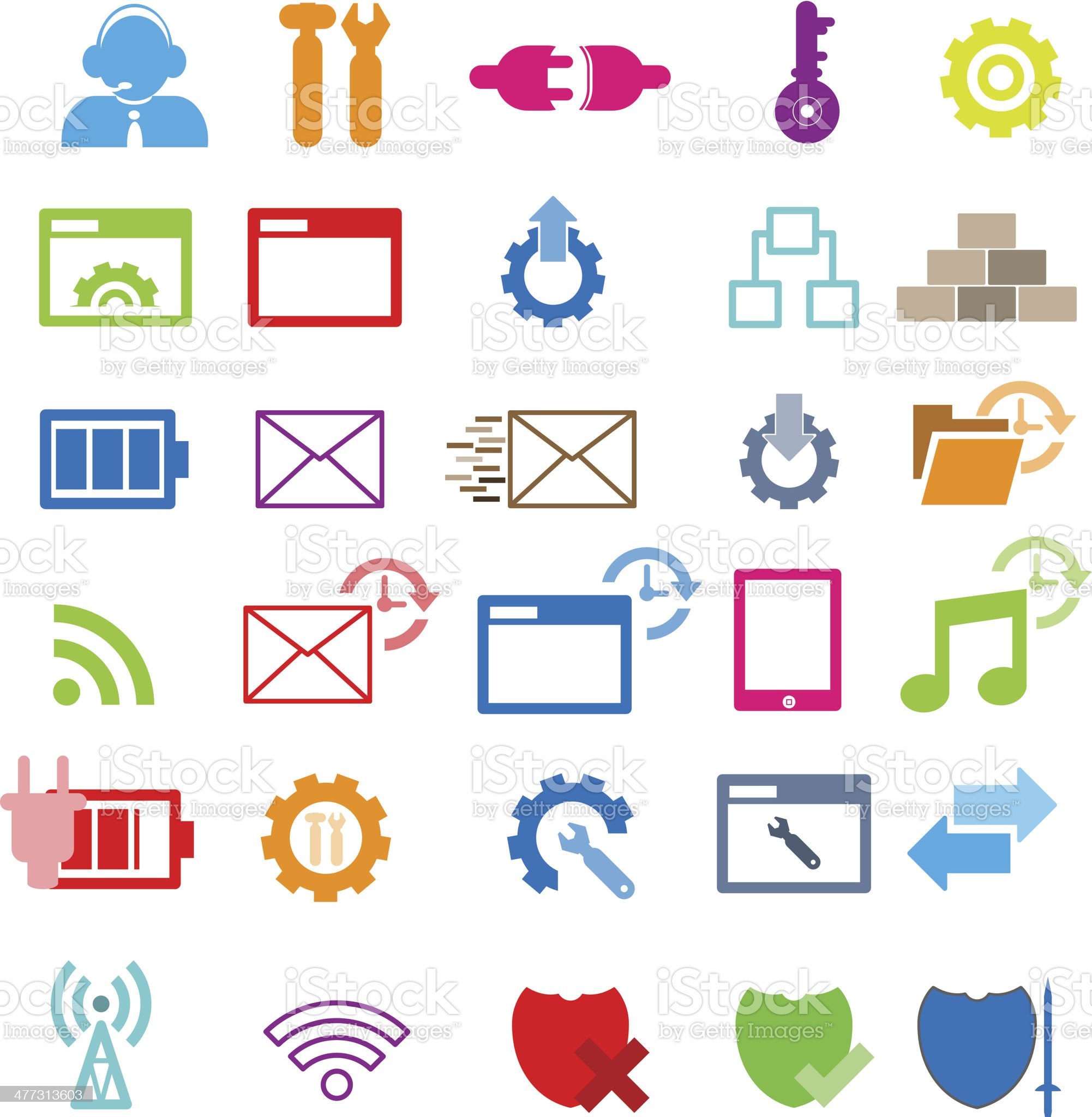 Set of network icons royalty-free stock vector art