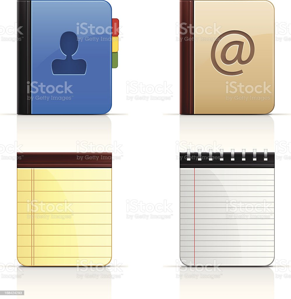 Set of Notepads royalty-free stock vector art