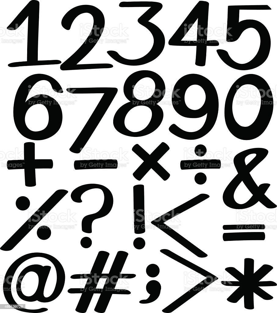 Set of numbers vector art illustration