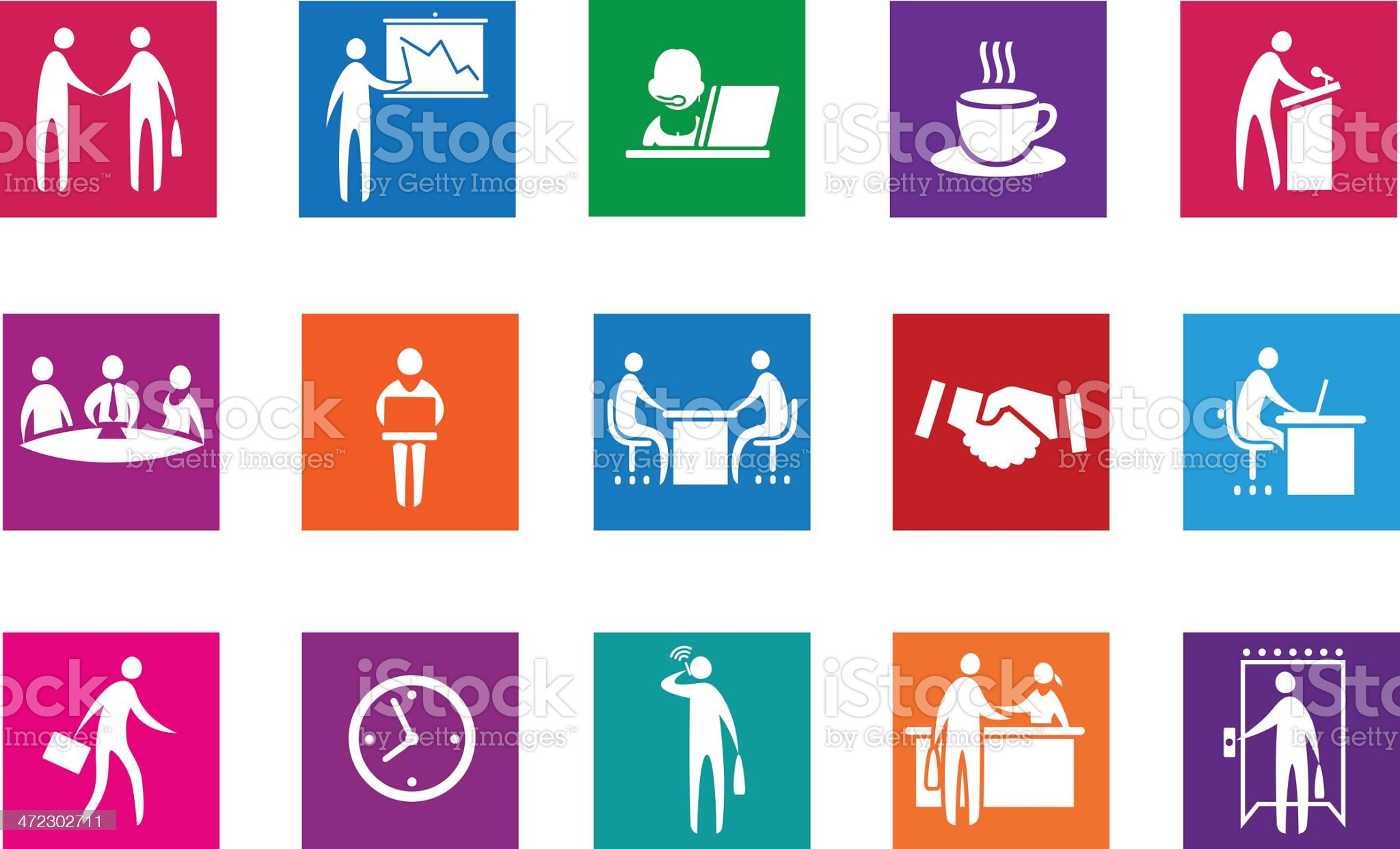 Set of office and business icons. royalty-free stock vector art
