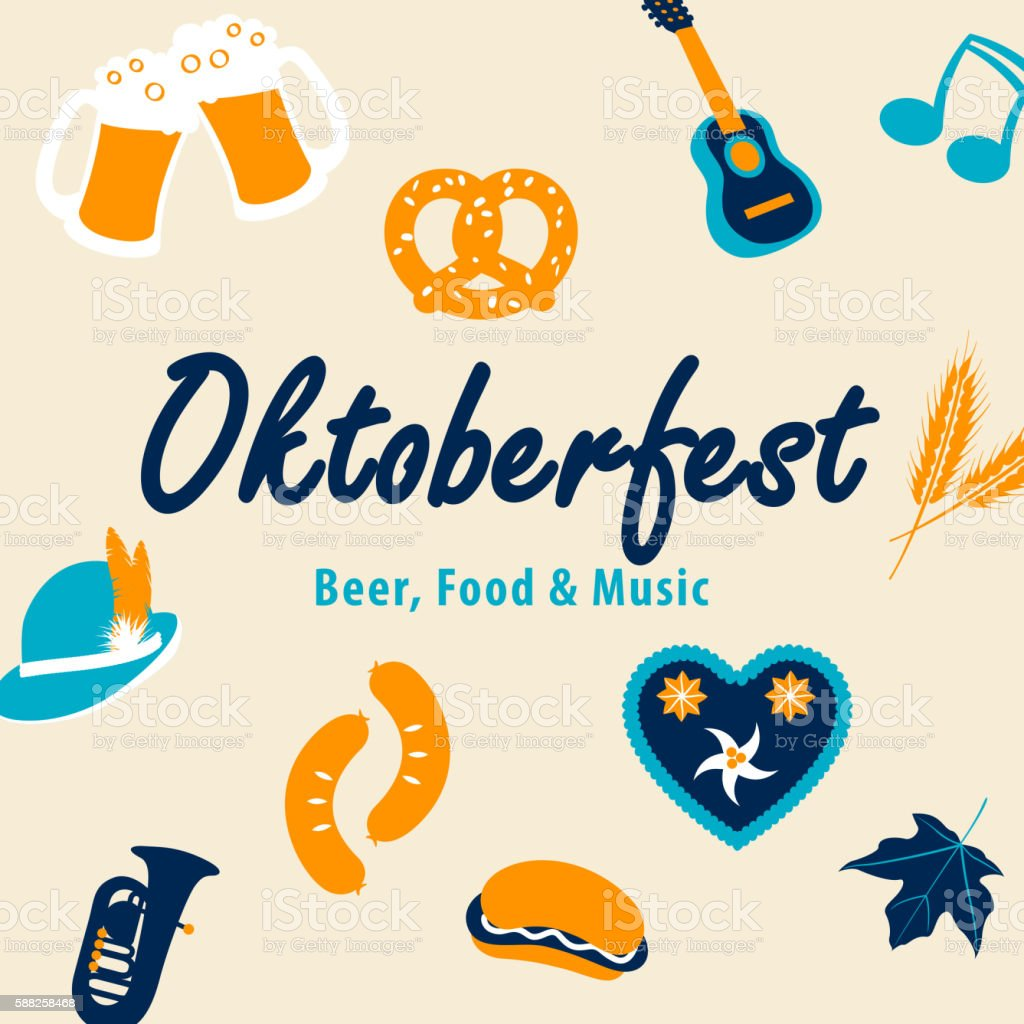 Set of Oktoberfest Elements vector art illustration