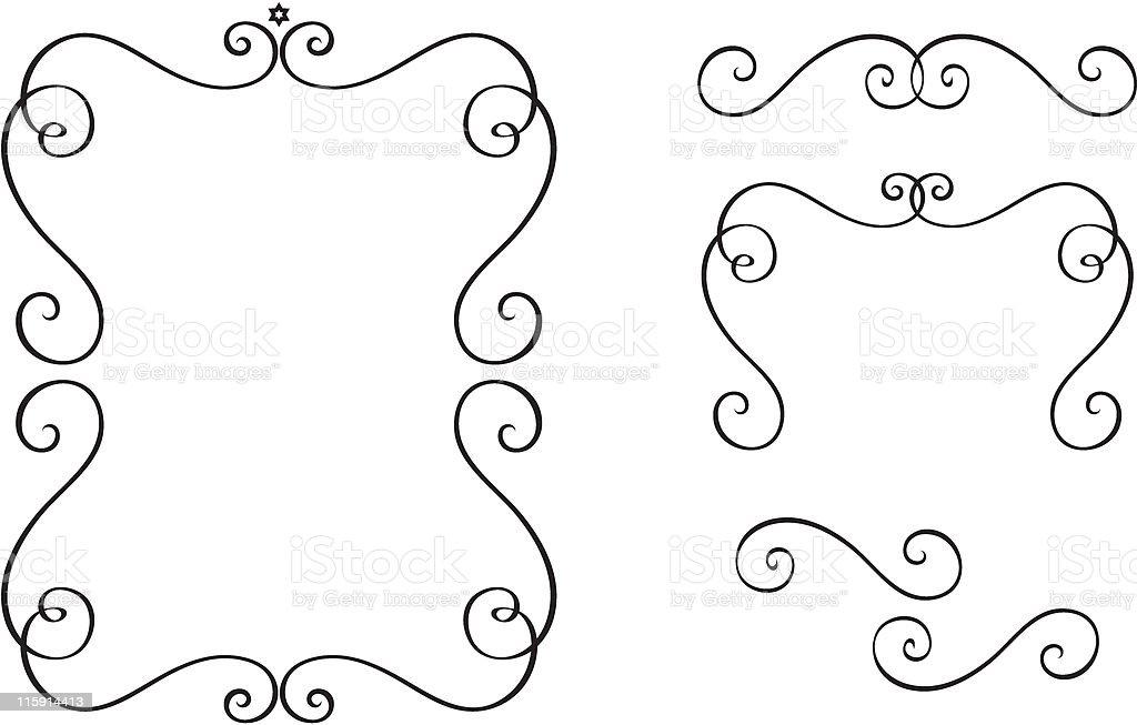 Set of original design elements. royalty-free stock vector art