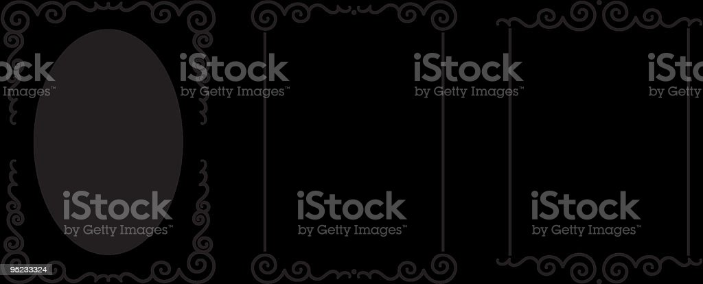 Set of original vector decorative frames royalty-free stock vector art