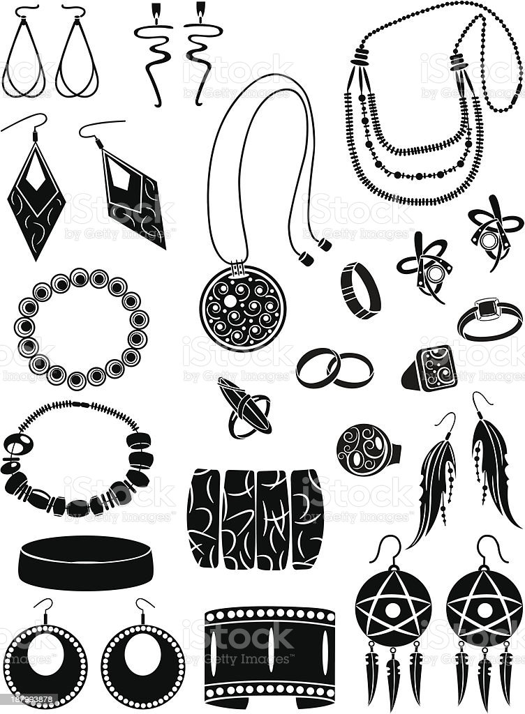Set of ornamentations royalty-free stock vector art