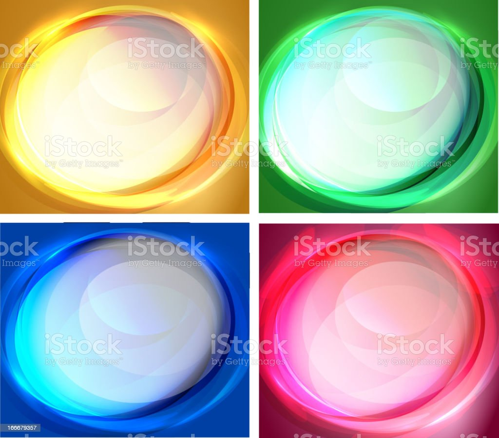 Set of oval backgrounds royalty-free stock vector art