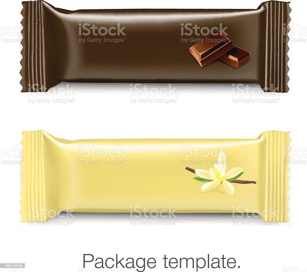 Set of package bar on white background. Vector illustration. Tem vector art illustration