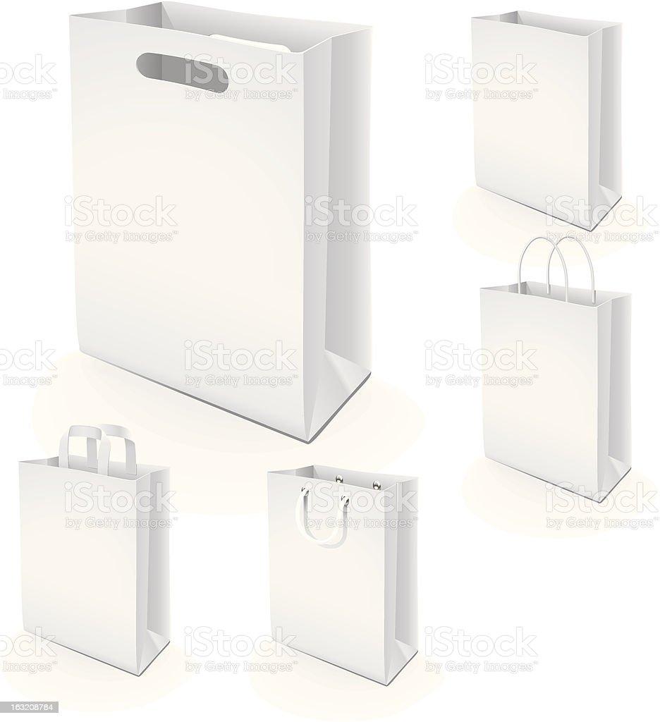 Set of paper bags royalty-free stock vector art