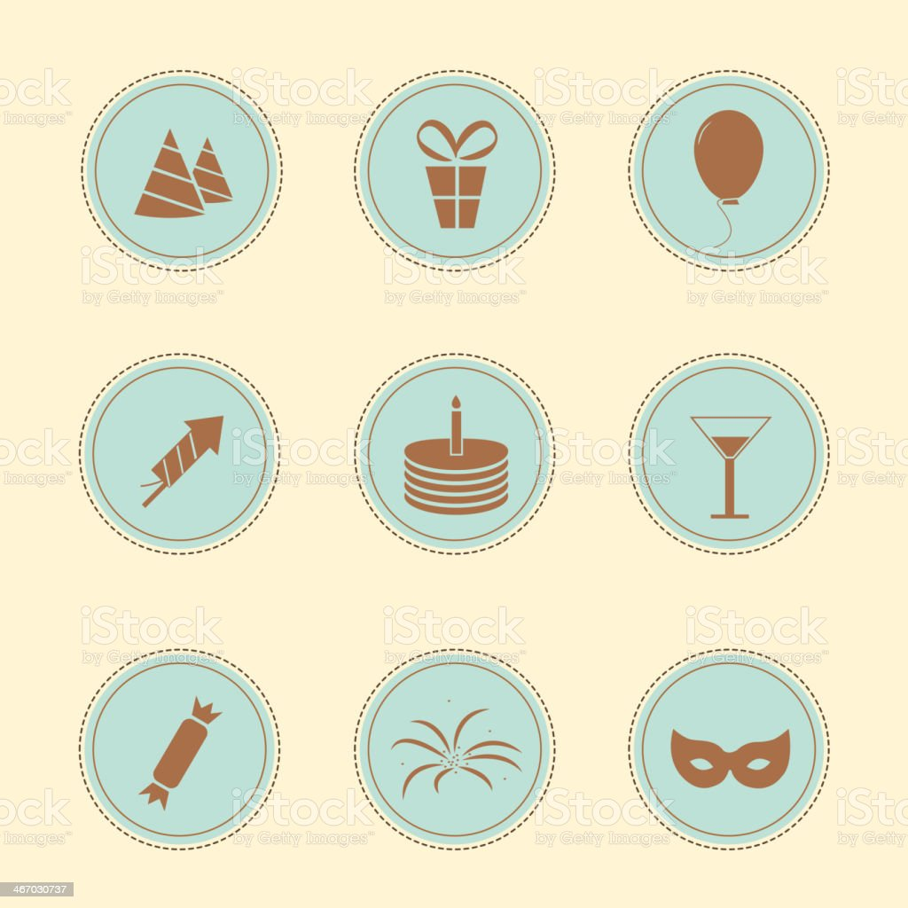 Set of party icons royalty-free stock vector art