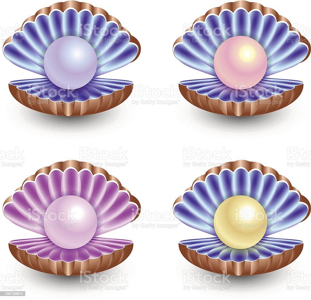 set of pearls royalty-free stock vector art