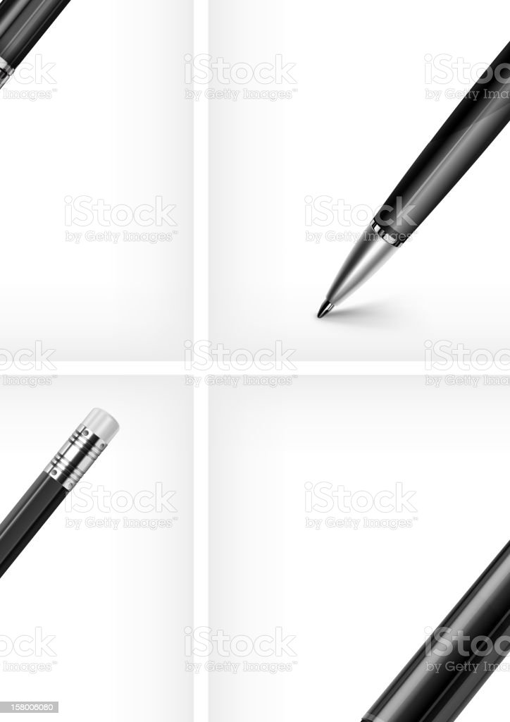 Set of pen royalty-free stock vector art
