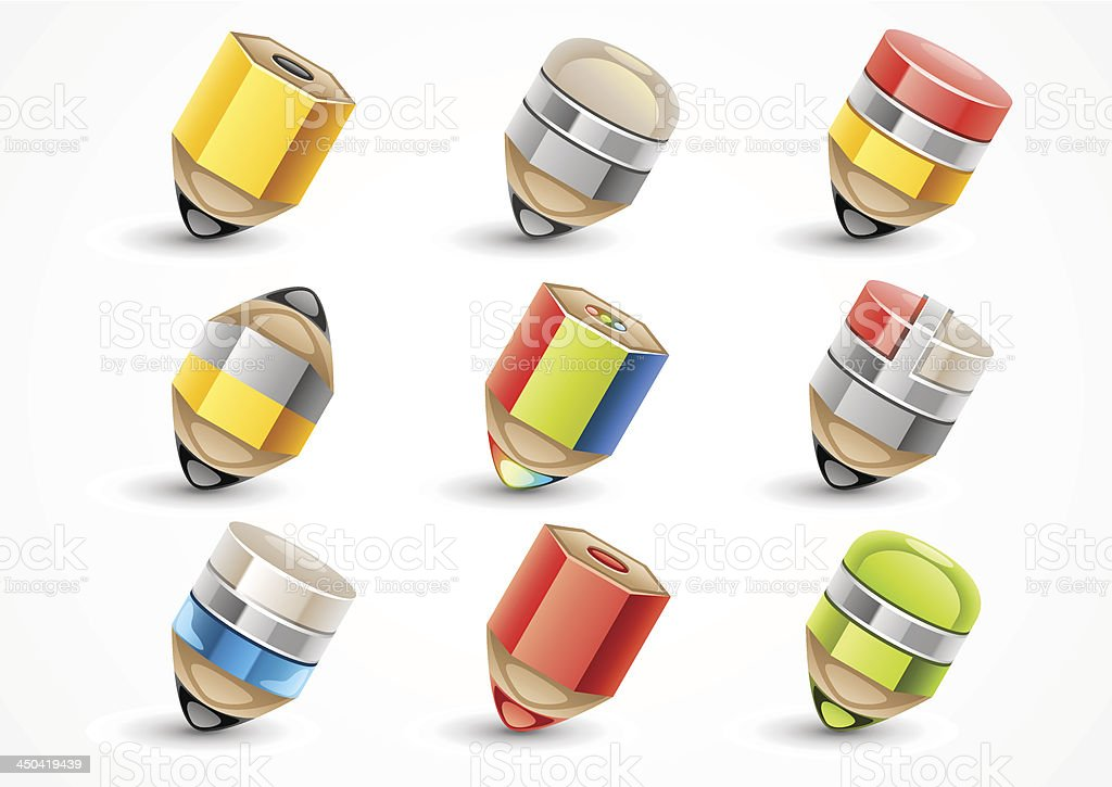 Set of pencils royalty-free stock vector art