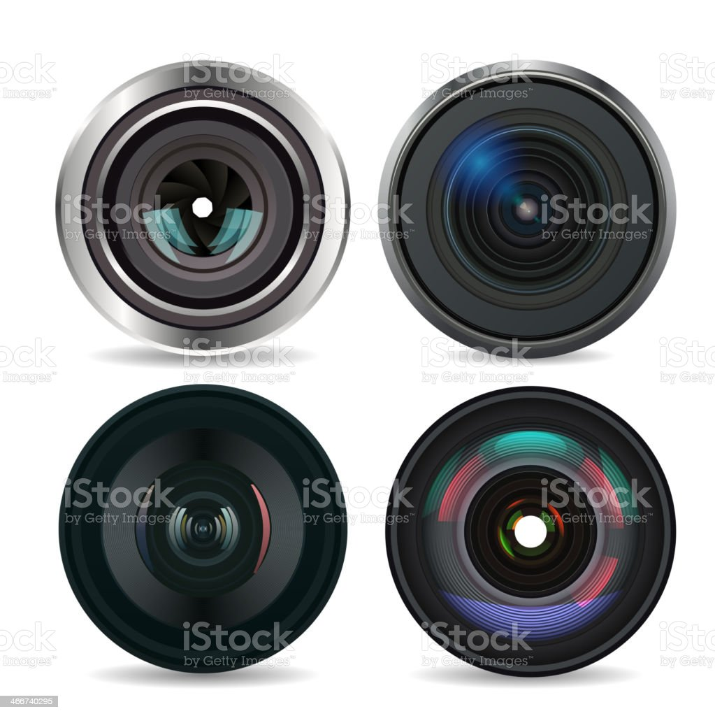 Set of Photo Lens isolated #2. Vector royalty-free stock vector art