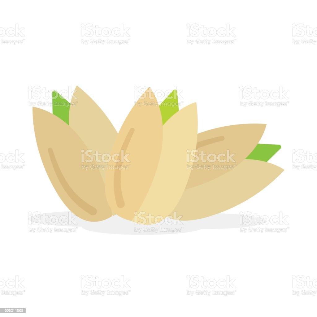 Set of pistachios nuts vector art illustration